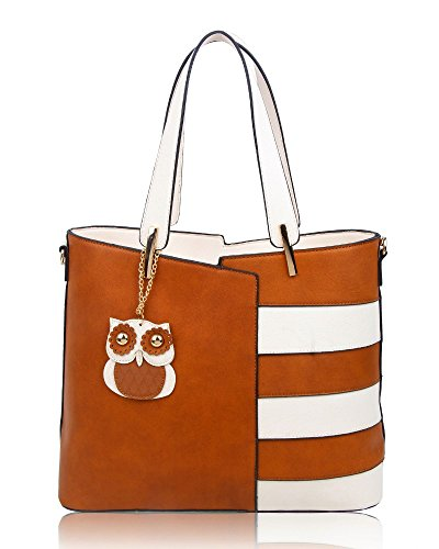 RedFox, Borsa a mano donna Brown/Cream