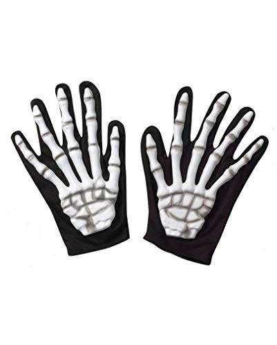 Horror-Shop Skelett Handschuhe Blank (Skelett-shop)