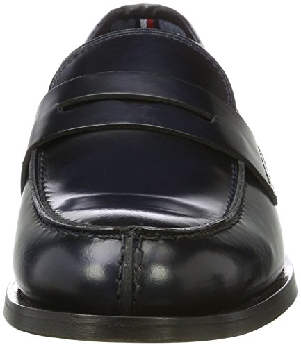 Tommy Hilfiger T2285uppence 1a, Mocasines Para Hombre Azul (medianoche)