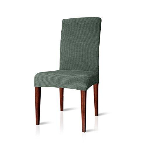 CHUN YI Jacquard Stuhlüberzug, Stuhlhusse, Stuhlbezug für Stuhl, Mehrere Farben (Zementgrau, 4 Stück)