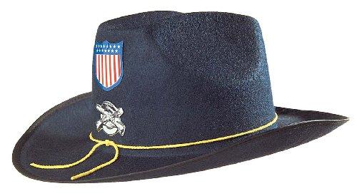 KULTFAKTOR GmbH Nordstaaten Hut Amerika Kinder blau-bunt Einheitsgröße (Bürgerkrieg Soldat Kostüm)