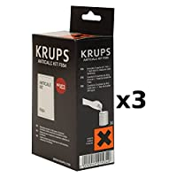 Krups Descaling Powder With Hard Water Test Kit, Set of 3