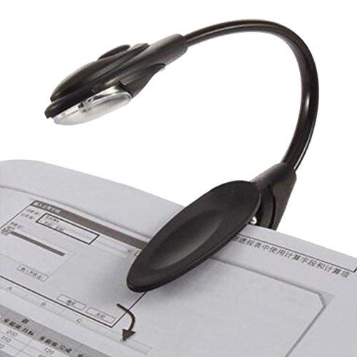 Zhuhaixmy Clip-On Tragbar Mini Buch Licht LED Reise Lesen Booklight Lampe for 6