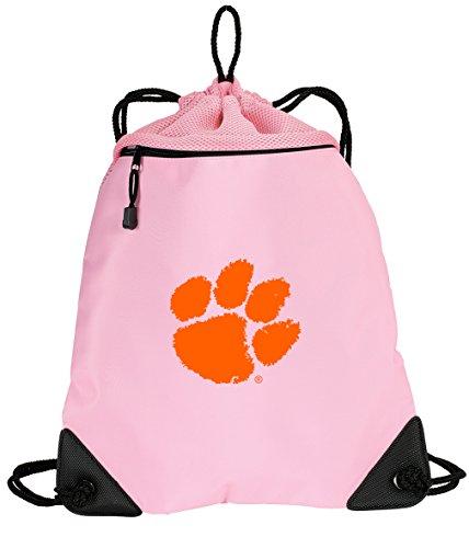 Cute Clemson Tigers Kordelzug Rucksack Damen Clemson Universität Tasche Cinch-Einzigartige Mesh & Mikrofaser - Mikrofaser Drawstring-rucksack