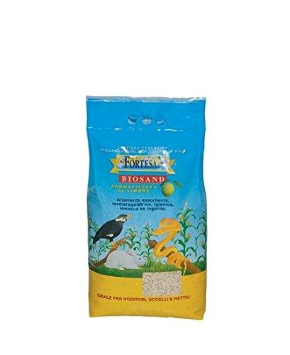 Lettiera Fortesan Biosand 10 lt - Lettiera al tutolo di mais aromatizzata al limone