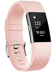 Für Fitbit Charge 2 Armbänd, Ersatz Klassisch Armband für Fitbit Charge 2