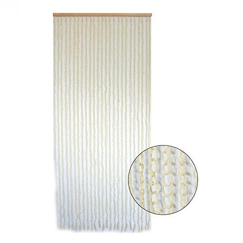 cortina de puerta de sisal natural y madera para decoracin de aros beige hogar y ms