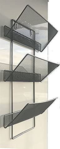 Large 3 Tier Mesh wall literature holder magazine hanging file HOME/ OFFICE ORGANIZER