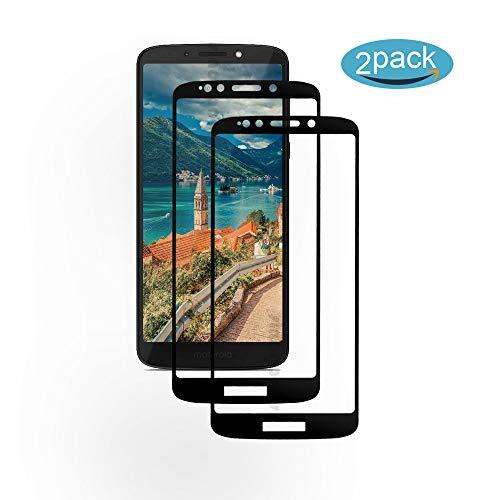 [2 Pack] Für Motorola Moto G6 Play Panzerglas Schutzfolie (Schwarz), Bildschirmschutzglas Panzerfolie für Motorola Moto G6 Play Schutzglas Folie [Ultra-klar] [9H Härte] [Kristallklar] [Bubble Free]