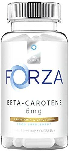 FORZA Capsules Beta-Carotene 6 Mg - Carotenoids of Vitamin A - 100 Capsules