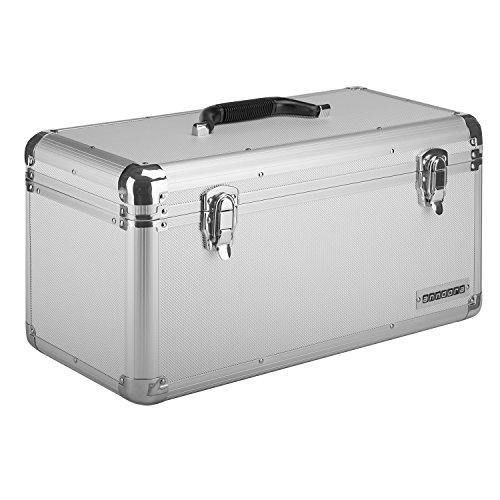 anndora Werkzeugkoffer 28 Liter - XL Werkzeugkasten Werkzeugbox - silber