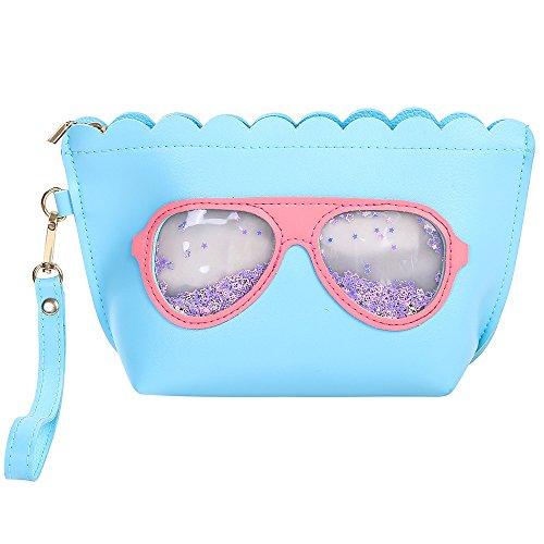 Tasche Cartoon (Make-up Tasche, HOYOFO Cartoon Gläser Make Up Tasche Dumpling groß wasserdicht Kosmetik Tasche für Travel Wash Tasche mit Griff für Damen und Mädchen)
