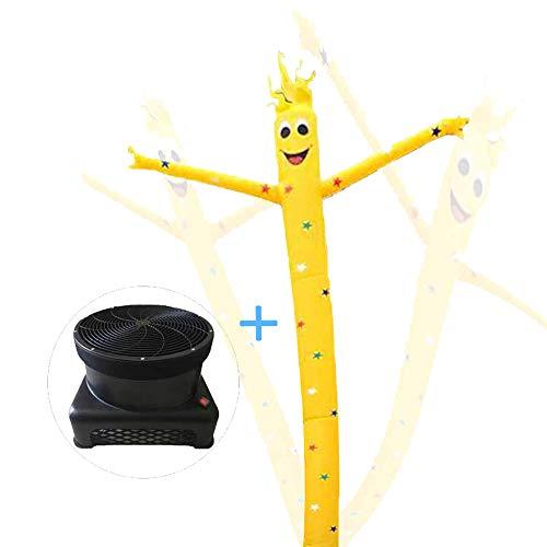 HXY 20ft Schlauchboot Puppet Air Dancers, 1 PS Sky Dancer Blower Flailing Wacky Wellenförmige Wind Fliegen Tanzen Mann für Blowout Sale, Grand Opening, Veranstaltung,16.5ft/5m
