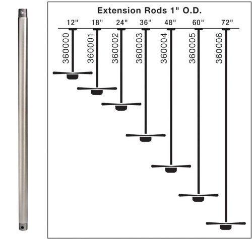 24 Downrod (Kichler Lighting 360002GST 24-Inch Extension Downrod, Galvanized Steel by Kichler Lighting)