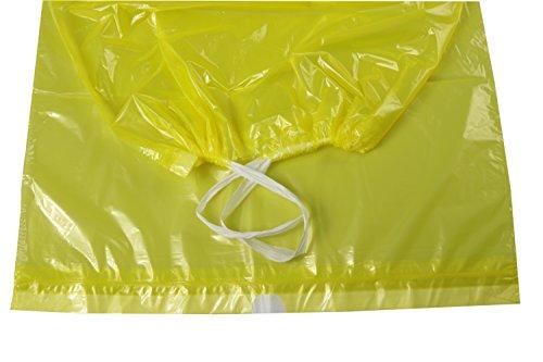 Gelbe Müllsäcke mit Zugband, 5 Rollen, 90 Liter