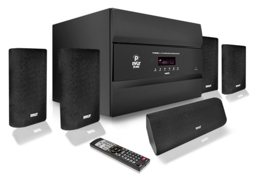 PYLE Pro PT678HBA 400W 5.1 Channel HDMI Home Theater System with Bluetooth Audio Playback and AM/FM Tuner