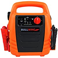 Bullwing Power Pack, Starthilfe, Ladegrät 400/1100A incl. Luftkompressor 18 bar, Energiestation, Starthilfe für Auto, Motorad, Transporter