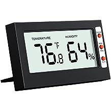 Oria Termómetro Higrómetro Digital, Medidor Temperatura y Humedad Interior Monitor de Humedad Temperatura con LCD