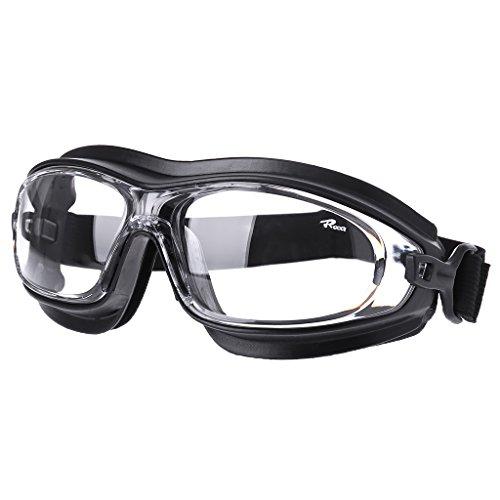 ranuw Staub Wind sanddicht stoßfest chemischen Säure Splash Arbeitsplatz Sicherheit Goggle, Schwarz -