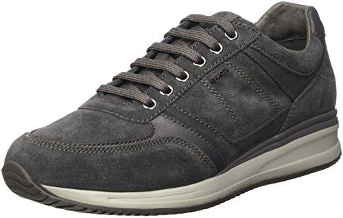 Geox u dennie b, scarpe da ginnastica basse uomo, grau (dk greyc9002), 45 eu