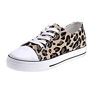 Padgene Ladies Canvas Shoes Womens Girls Trainers Casual Lace Up Retro Plimsoles Low Top Flat Gym Sports Lightweight Sneakers Fashion Pumps