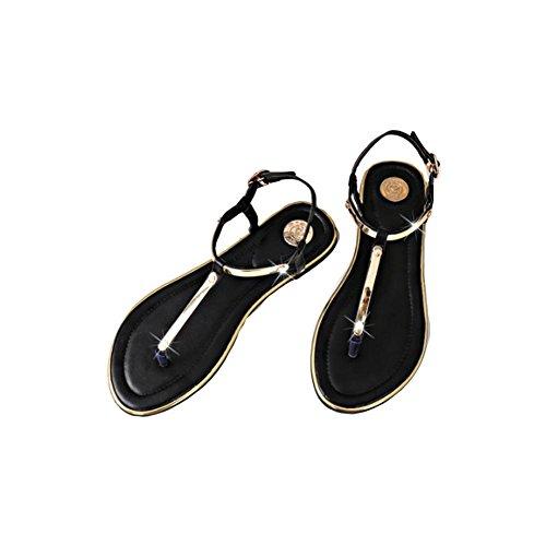 I pattini di pattino femminili dei sandali di estate piegano gli allievi di svago dei pattini dei sandali delle grandi Black