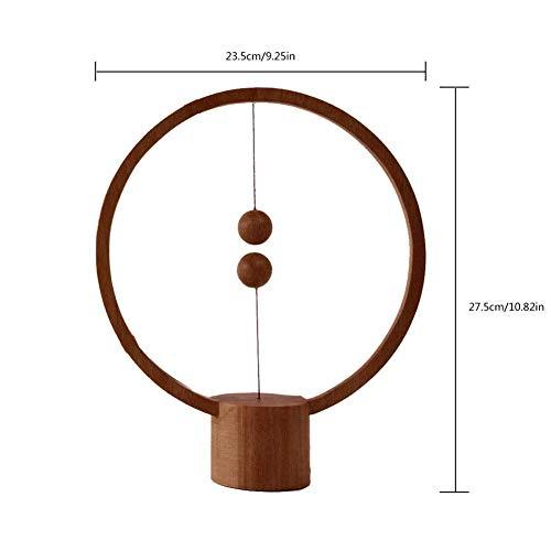 Rziioo Heng Balance Lamp Lámpara magnética Redonda para interruptores de Mid-Air LED,...