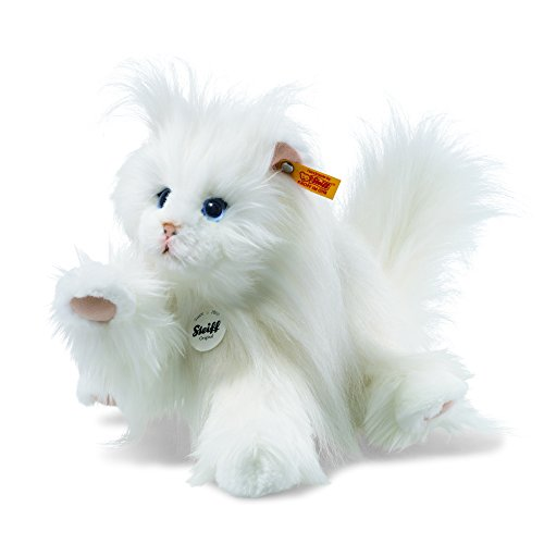 Steiff 99243Princess Gato Persa, Color Blanco