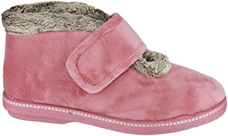 Cotswold Ladies Horcott Cute Comfortable Faux Fur Lined Slipper Royal
