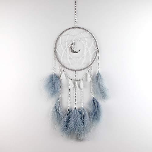 DaTun648 Mondkette Begriffe Traumfänger Ornamente Mode Einfache Windspiele Dekorationen Mädchen Herz Traum Net Kreative Geschenke Mondscheinkette grau