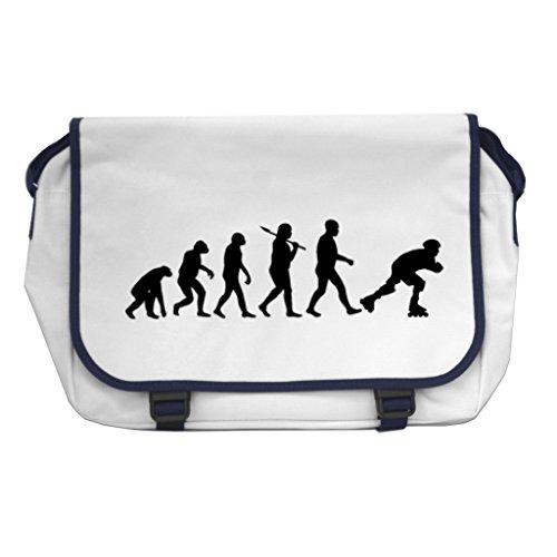 1StopShops Evolution of eine Skater Messenger Bag–Weiß