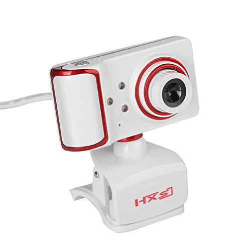 Computerkamera HD 480P Webcam, Full HD Videoanruf und Aufnahme Dual Stereo Audio Stream Gaming mit Mikrofonen Small Agile,White Agile Stereo