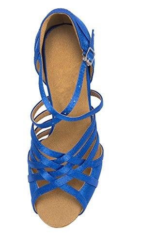 TDA , Peep-Toe femme 7.5cm Heel Blue