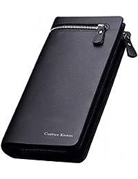 Curewe Kerien Girls Women Long Zipper Black Wallet (12 Card Slots)
