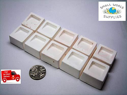 Smallworldsupplies Kalziumblöcke mit Mineralien für Aquarium, Zwergkirsche, Garnelen, Aquarium, Schnecken und Kaninchenschnecken (kleine Packung mit 20 Stück) -