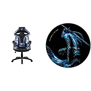 Woxter Stinger Station Army Blue – Silla Gaming (Racing) Eje de Acero + Alfombrilla Gaming de Suelo