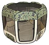 Camouflage Pet Dog Cat Tent Puppy Playpen Exercise Pen M by BestPet