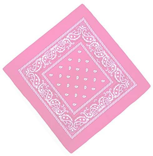 Unbekannt Bandana Kopftuch Halstuch Nickituch Biker Tuch Motorad Tuch verschied. Farben Paisley Muster (Rosa)