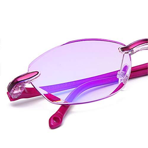 1fcb5a9f26 TERAISE Gafas de lectura sin montura Moda Diamante Corte Diseño de borde  Lentes anti-azules