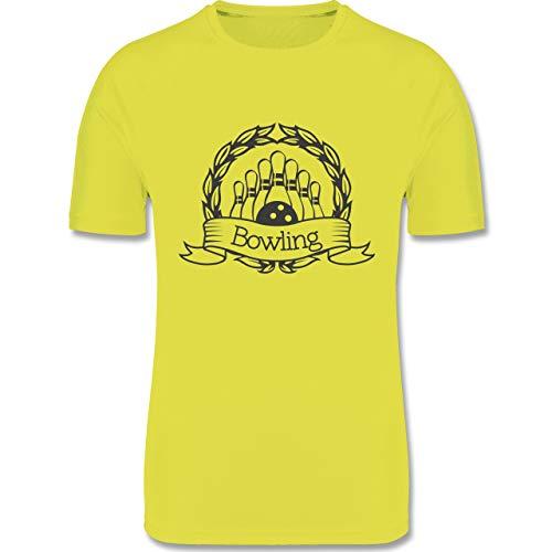 Shirtracer Bowling & Kegeln - Bowling Lorbeerkranz - XXL - Neon Gelb - F350 - Herren Laufshirt
