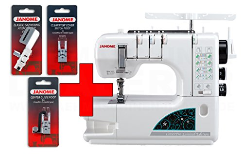 Janome Cover Pro 1000 CPX Limited Edition inkl. 3 Füsse (Bonus-Kit)