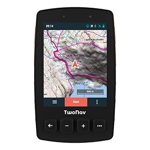"""TwoNav - Trail 2 GPS para Senderismo con Pantalla de 3.7"""" Gorilla Glass, Gran Autonomía y Resistencia a Temperaturas e Impactos, Glonass + Galileo, Color Naranja"""
