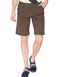 Campus Sutra Solid Men's Chino Shorts-Green