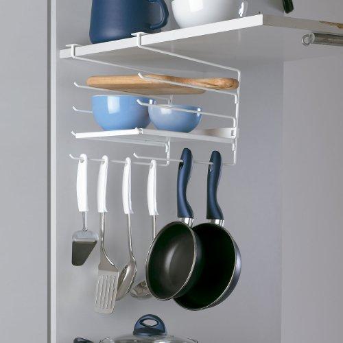 rayen 6074 portatazze con ripiani per armadi da cucina 225 x 30 x 26 cm