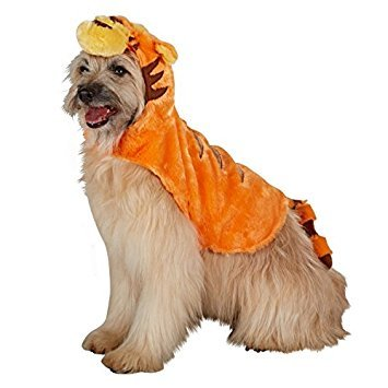 Disney Kleine Hunde Orange Tigger Kostüm (Disney Kostüme Für Hunde)