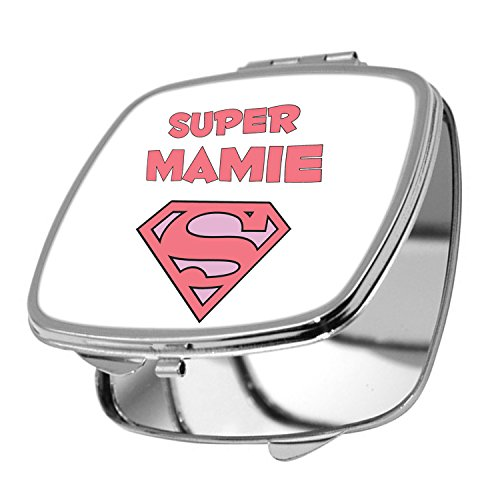 Yonacrea - Miroir de Poche - Super Mamie - Blanc