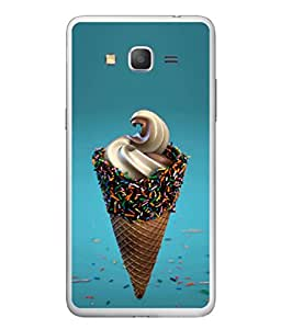 FUSON Designer Back Case Cover for Samsung Galaxy E5 (2015) :: Samsung Galaxy E5 Duos :: Samsung Galaxy E5 E500F E500H E500Hq E500M E500F/Ds E500H/Ds E500M/Ds (Pinky Frosted Sprinkled Waffle Cone Crispy Coffee Flavour)