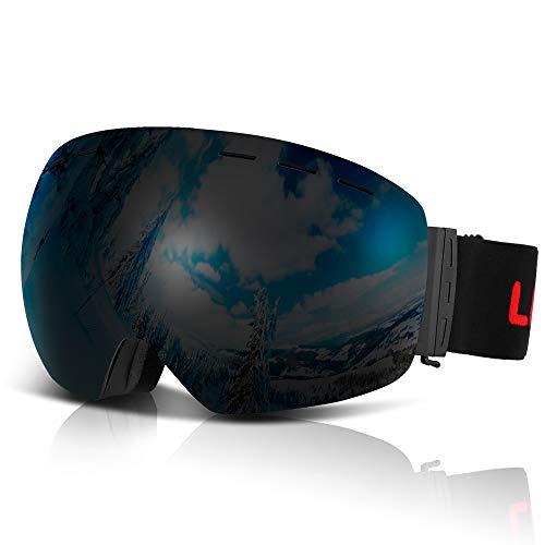 Lixada Gafas Esquí OTG Antivaho Protección UV Gafas