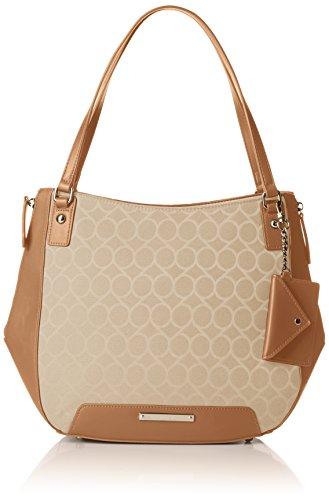 Nine West Damen Umhänge-Handtasche, Light Sandstone/Dark Camel, Einheitsgröße -