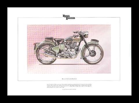 Royal Enfield Bullet Moto Classique édition limitée Art Imprimé